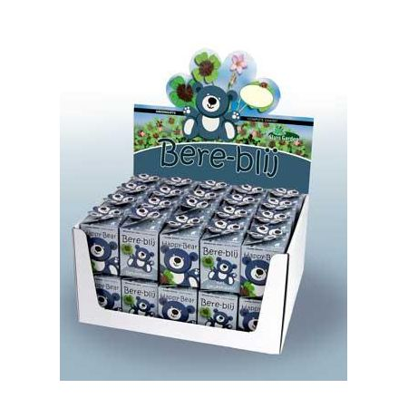 Greengift happy bear blauw showdoos
